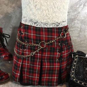 Tripp NYC Plaid Skirt